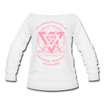 ISUPK Women's Wideneck Sweatshirt - white
