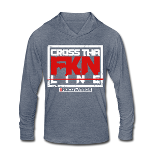 CTL Tri-Blend Hoodie Shirt - heather blue