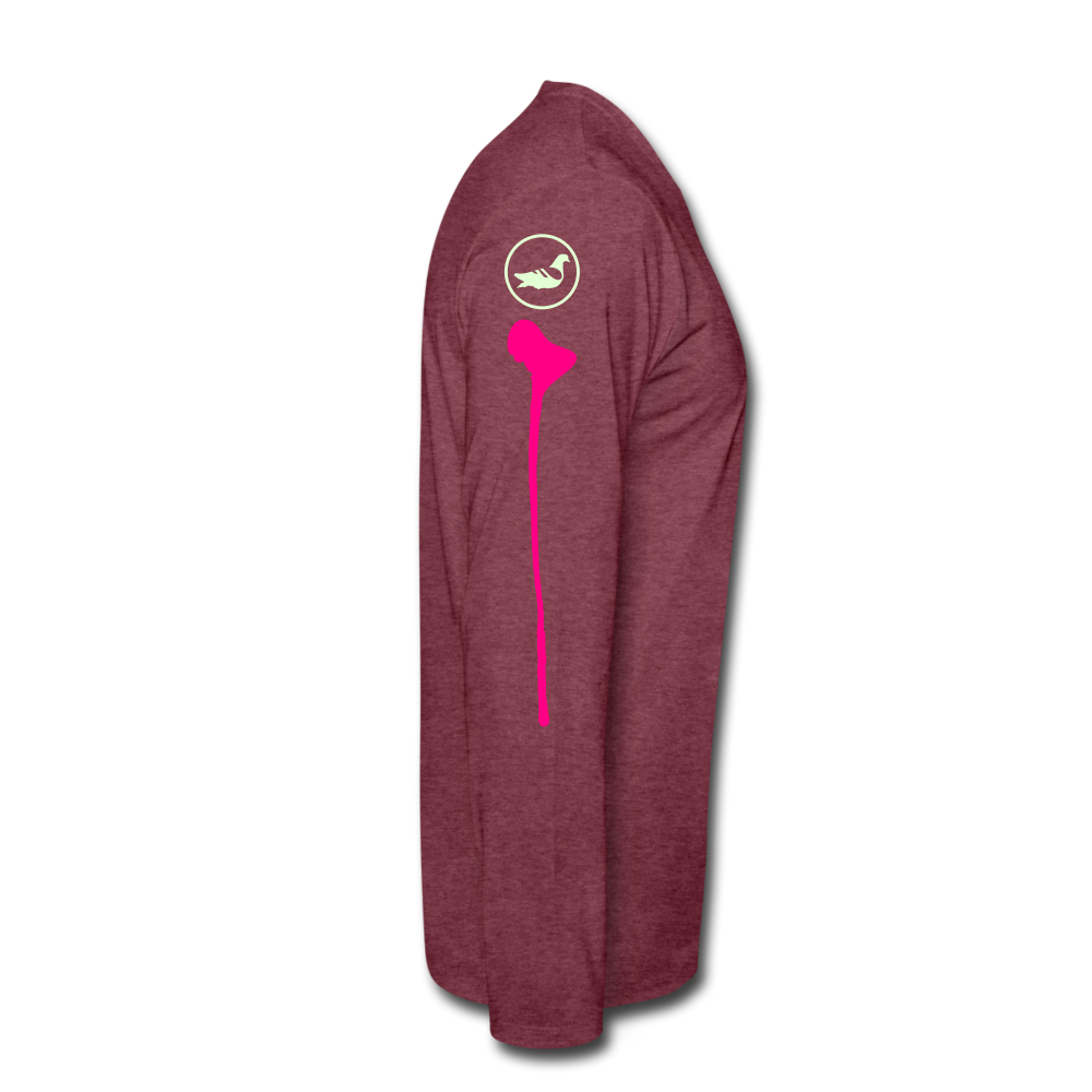 Th(ink) Revolution Long Sleeve T-Shirt - heather burgundy