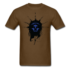 Liberty Of Kaos (Blue) T-Shirt - brown