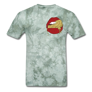 Ocean Lust Men's T-Shirt(GLD) - military green tie dye