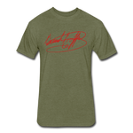 Big Signature Fitted T-Shirt - heather military green