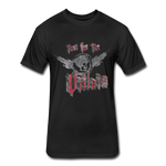 Root For the Villain vintage Fitted  T-Shirt - black