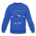 Rotten Apples and Dirty Birds Crewneck Sweatshirt - royal blue