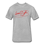 Big Signature Fitted T-Shirt - heather gray