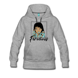 Ferocious Women's Premium Hoodie - heather gray