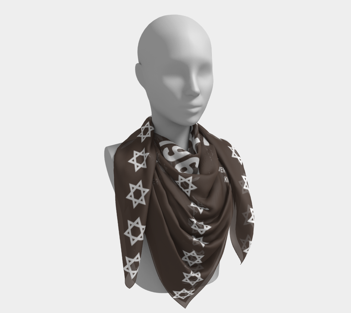 One West Scarf Brown
