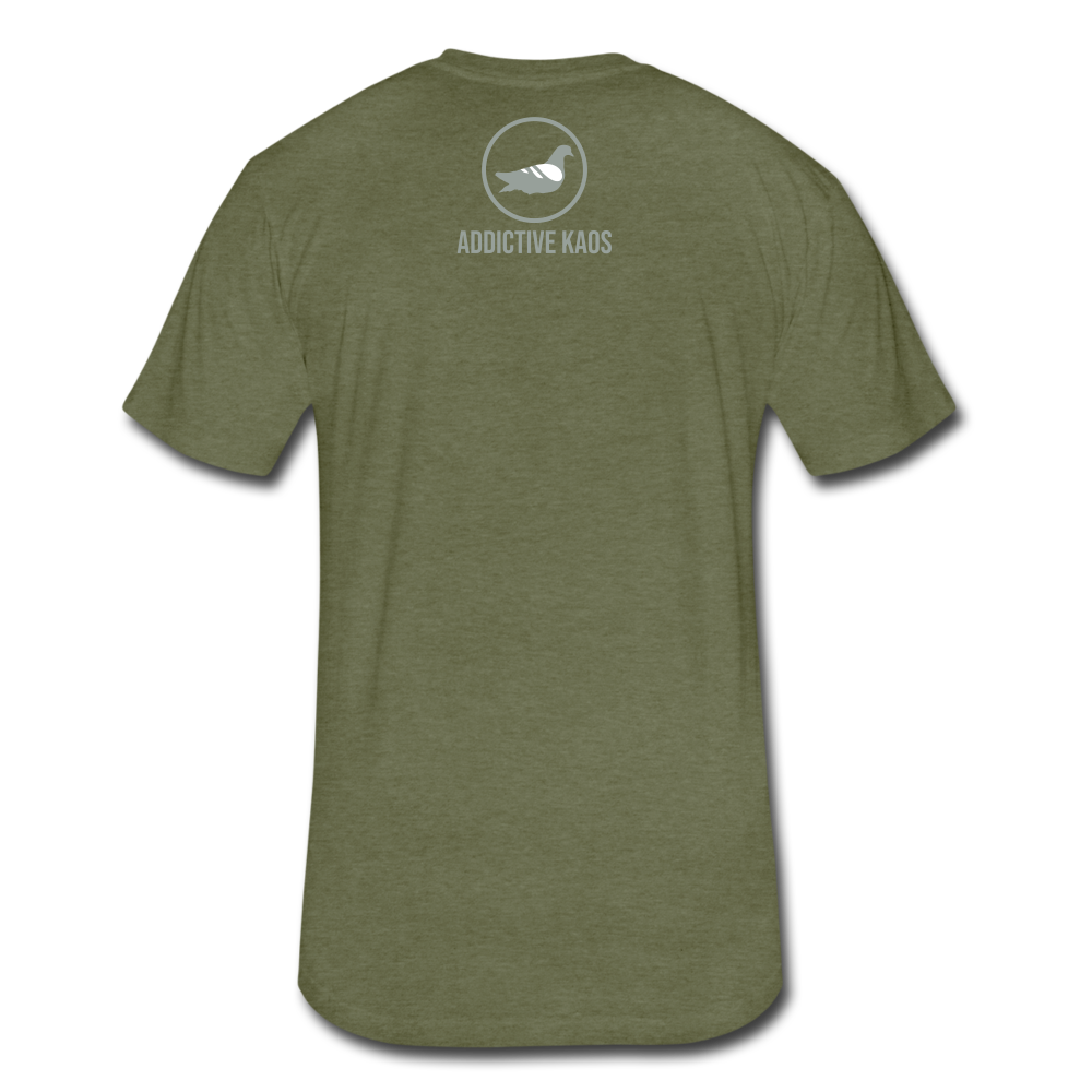 Root For the Villain vintage Fitted  T-Shirt - heather military green