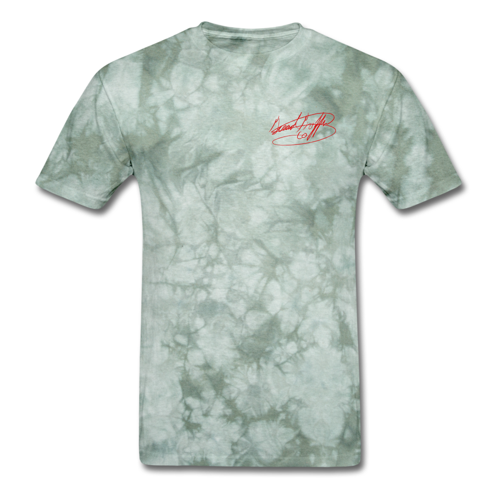 AK Signature Men's T-Shirt - military green tie dye