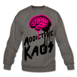 Brain of Operations Crewneck Sweatshirt - asphalt gray
