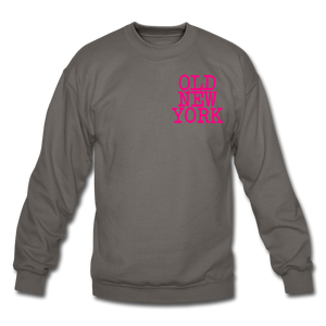 Old New York (neon) Crewneck Sweatshirt - asphalt gray