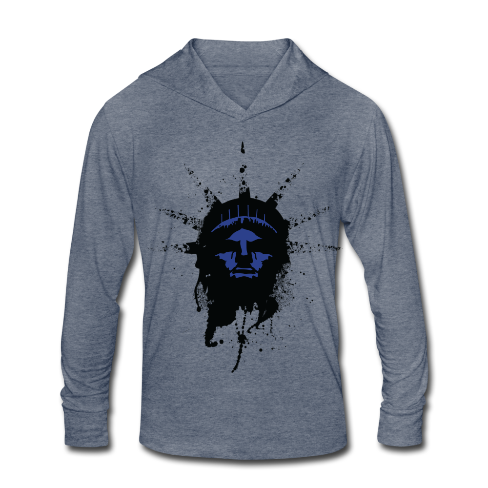 Liberty Of Kaos (Blue) Tri-Blend Hoodie Shirt - heather blue