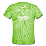 RanCon X Addictive Kaos Collab 1 Tie Dye T-Shirt - spider lime green
