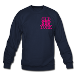 Old New York (neon) Crewneck Sweatshirt - navy