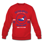 Rotten Apples and Dirty Birds Crewneck Sweatshirt - red