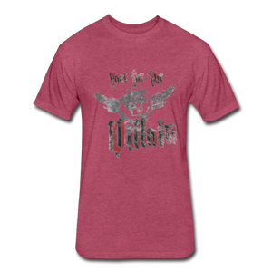 Root For the Villain vintage Fitted  T-Shirt - heather burgundy
