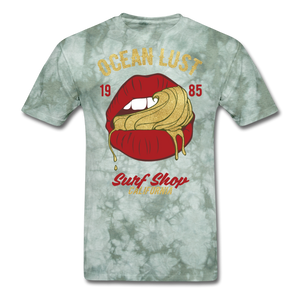 Ocean Lust T-Shirt (GLD2) - military green tie dye