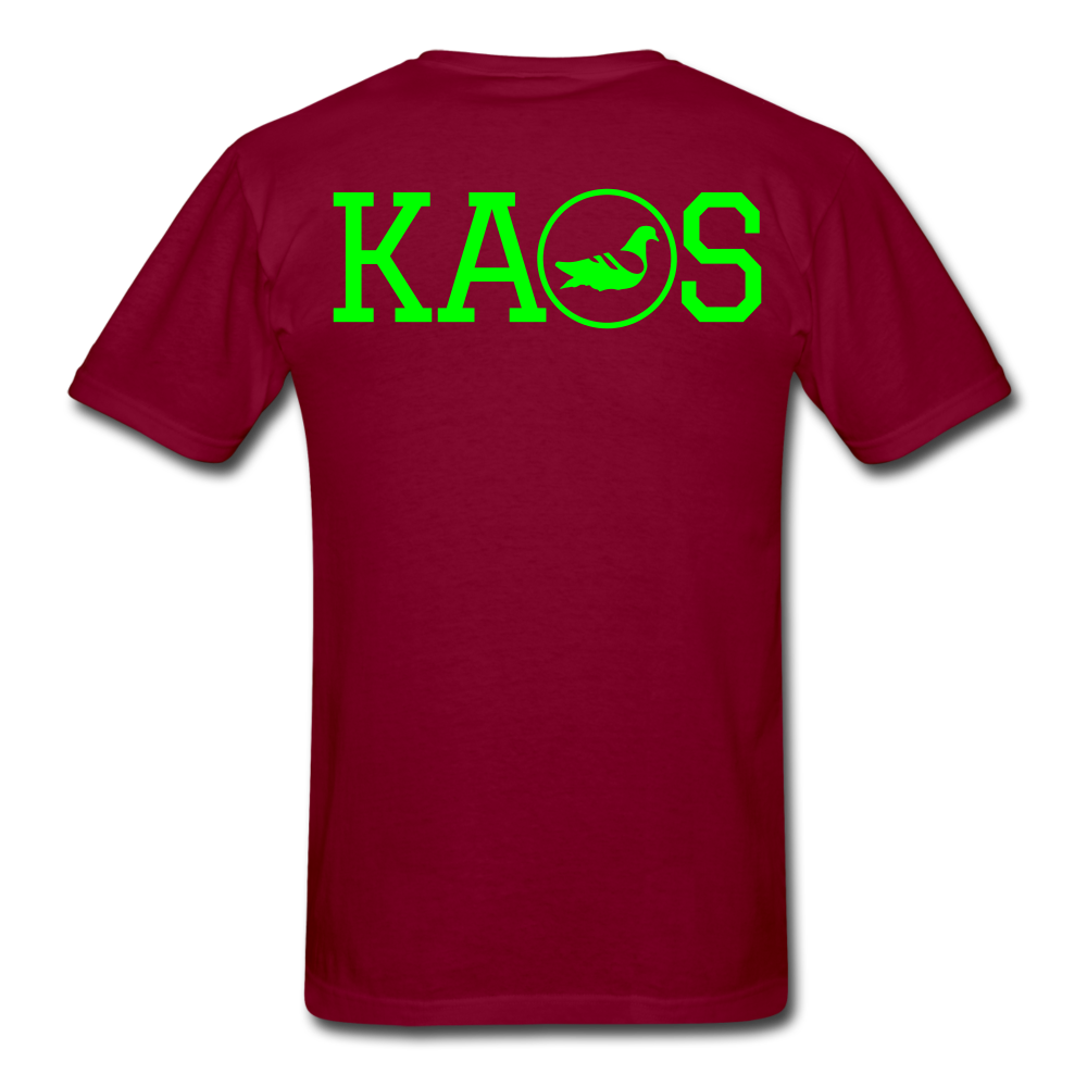 Addictive Neon T-Shirt - burgundy