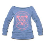 ISUPK Women's Wideneck Sweatshirt - heather Blue