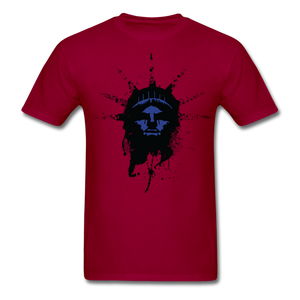 Liberty Of Kaos (Blue) T-Shirt - dark red
