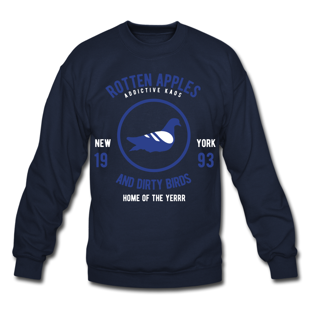 Rotten Apples and Dirty Birds Crewneck Sweatshirt - navy