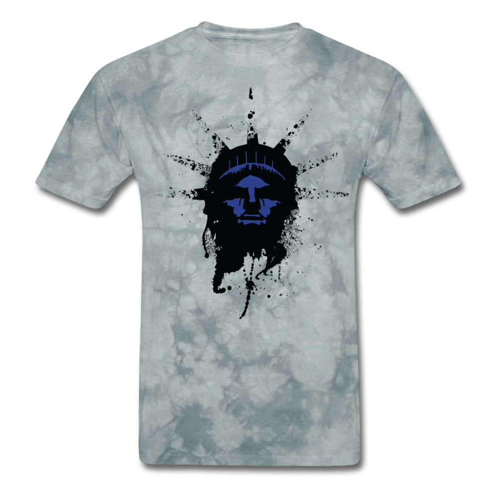 Liberty Of Kaos (Blue) T-Shirt - grey tie dye