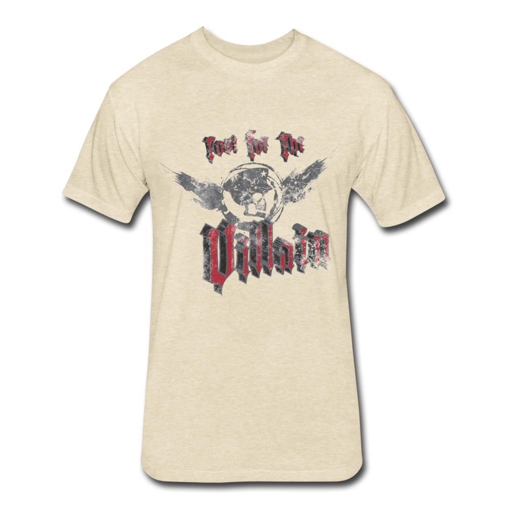 Root For the Villain vintage Fitted  T-Shirt - heather cream