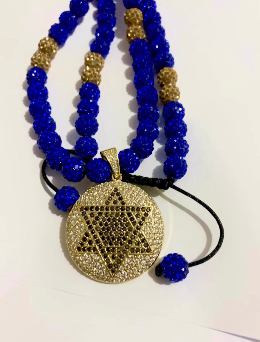 Blue Royalty Pave necklace