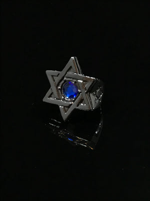 King David Ring (Blue Lion)