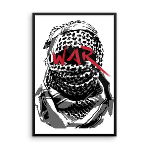 W.A.R Framed poster