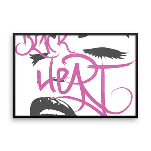 Black Heart Framed poster