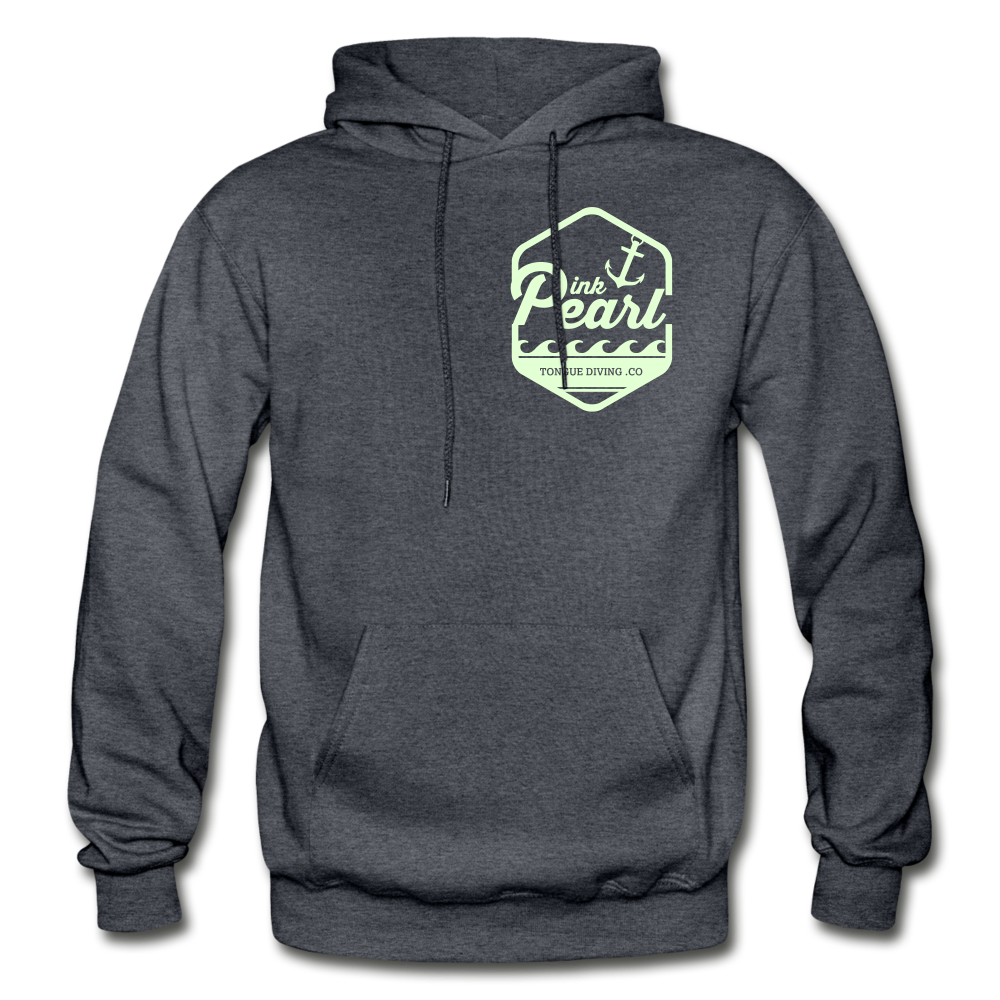 Pink Pearl Glow in the Dark Hoodie - charcoal gray