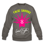 False Saviors (Signature) Crewneck Sweatshirt - asphalt gray