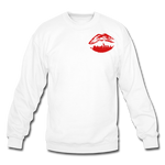 City Kiss Crewneck Sweatshirt - white