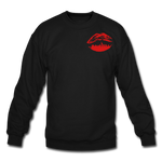City Kiss Crewneck Sweatshirt - black