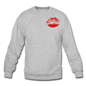 City Kiss Crewneck Sweatshirt - heather gray