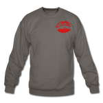 City Kiss Crewneck Sweatshirt - asphalt gray