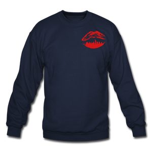 City Kiss Crewneck Sweatshirt - navy