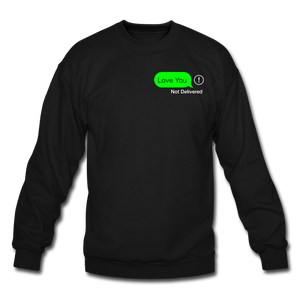 Not Delivered Crewneck Sweatshirt - black