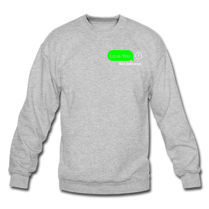 Not Delivered Crewneck Sweatshirt - heather gray