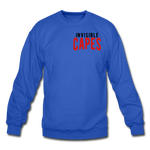 Invisible Capes Crewneck Sweatshirt - royal blue