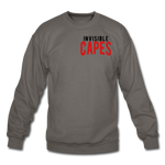 Invisible Capes Crewneck Sweatshirt - asphalt gray