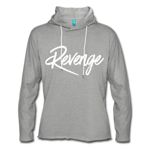 Revenge Lightweight Terry Hoodie - heather gray