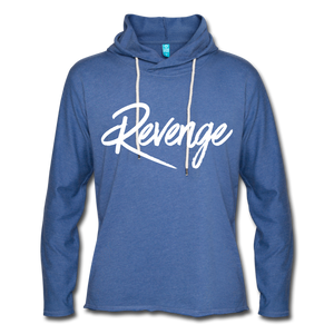 Revenge Lightweight Terry Hoodie - heather Blue