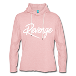 Revenge Lightweight Terry Hoodie - cream heather pink