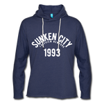 Sunken City Lightweight Terry Hoodie - heather navy