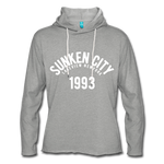 Sunken City Lightweight Terry Hoodie - heather gray