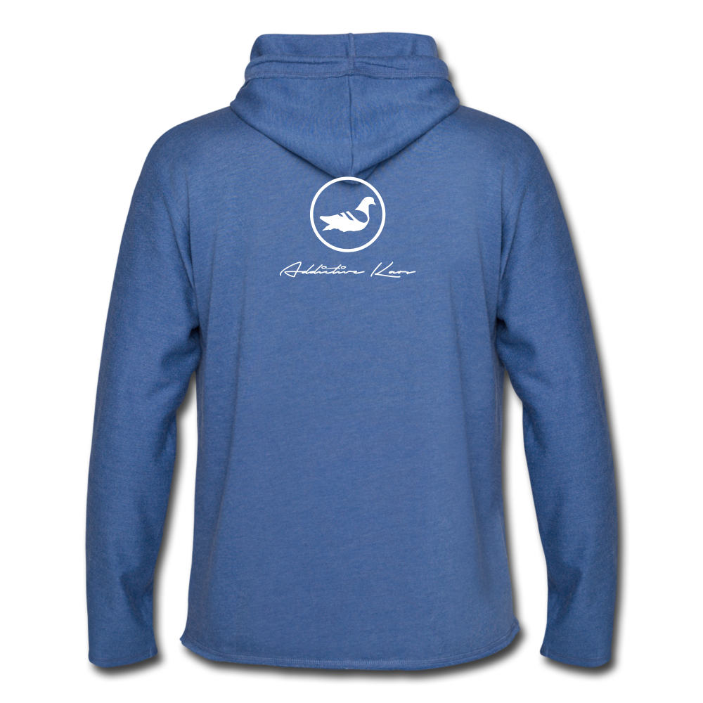Sunken City Lightweight Terry Hoodie - heather Blue