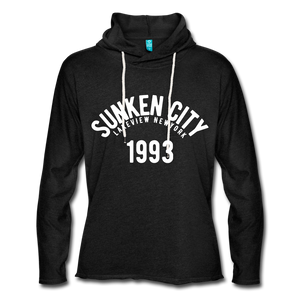 Sunken City Lightweight Terry Hoodie - charcoal gray