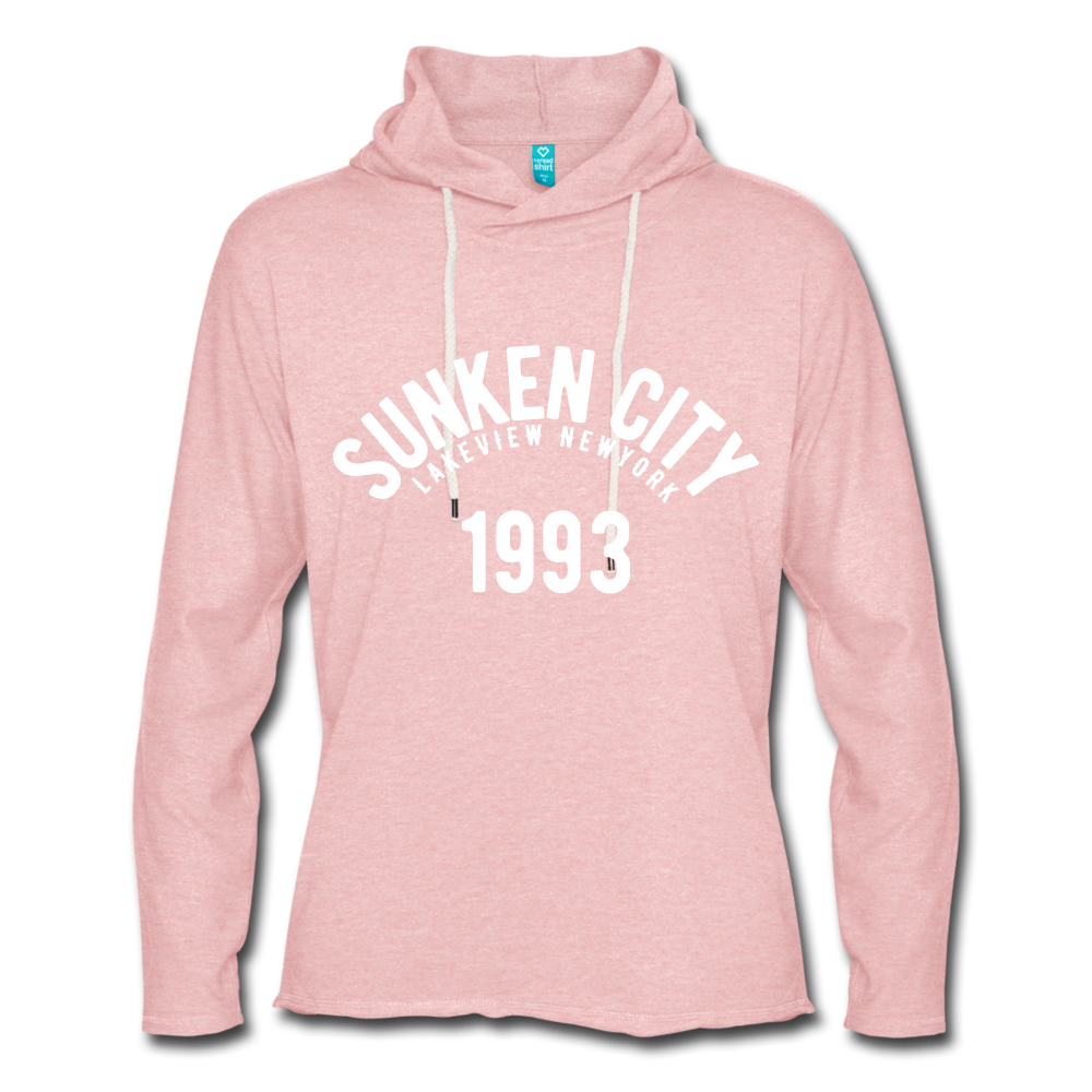 Sunken City Lightweight Terry Hoodie - cream heather pink